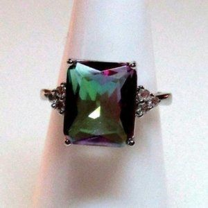 Ring Size 8 Simulate Rainbow Watermelon Mystic 315